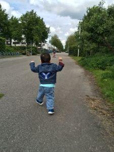 2015-05-25 Kids even fietsen en lopen1