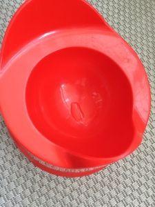2015-08-02 Sylvains plast zelf (op eigen aangeven) op de pot