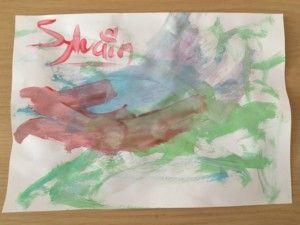 2016-07-21 Sylvain schildert zijn eigen kunst1