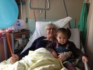 Bij oma in het ziekenhuis